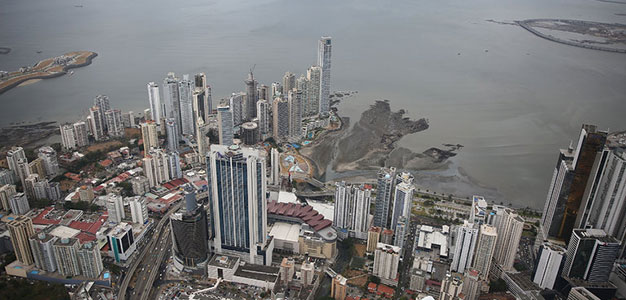 Aerial shot of Panama City, Panama