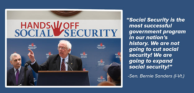 Bernie Sanders Stumping for Social Security