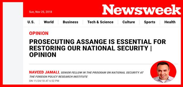 """Newsweek-Employed Spy """"Explains"""" to Us Why Assange Should Be Prosecuted…"""