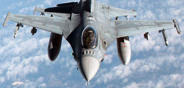 F16 Pilots Eject Before Mid-Air Collision
