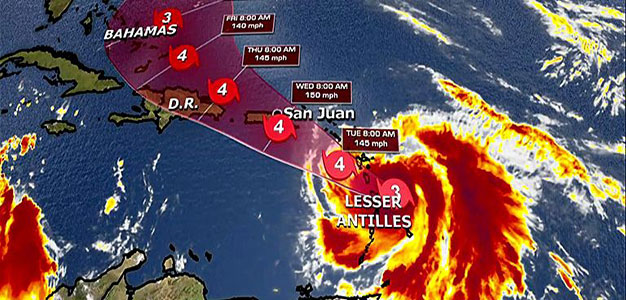 Hurricane Maria Expected to Become 'Major' Storm, Nears Caribbean Still Cleaning up from Irma…