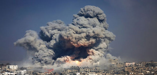 Israeli Air Strike_Gaza City_AP_07292014
