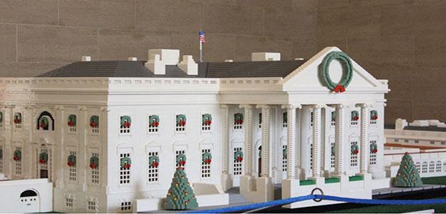 Lego Model of White House Unveiled for Holidays…