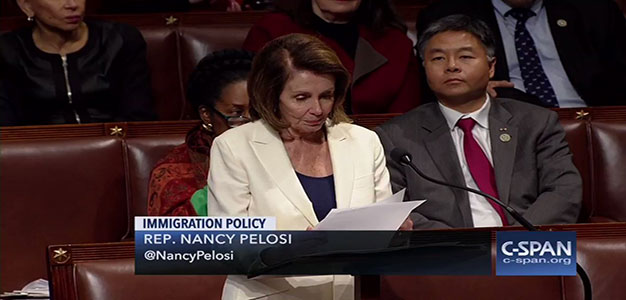Pelosi Breaks House Record, Nearly 8 Hours, Making the Case for Immediate Citizenship of 'Dreamers'…