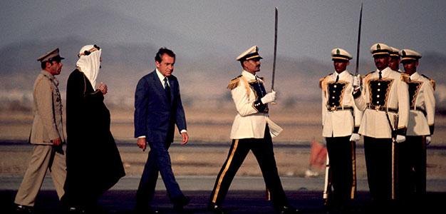 Pres Richard Nixon with Saudi's King Faisal