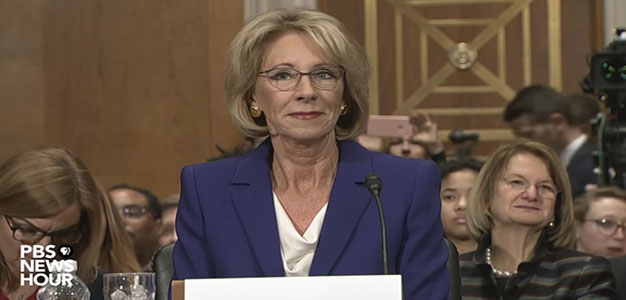 Watch Betsy DeVos's Confirmation Hearing for Secretary of Education…