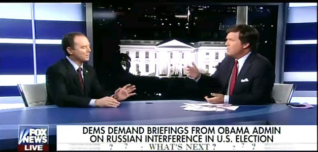 Rep Schiff Stoops to Calling Tucker Carlson an Agent of Russia…