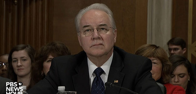 Tom Price's Confirmation Hearing for Secretary of Health and Human Services…