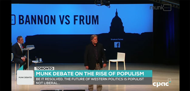 "Bannon Crushes Frum In 'Explosive' Debate On ""The Rise Of Populism""…"
