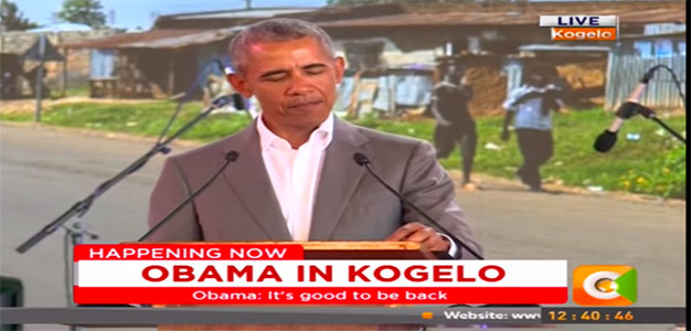 """Global Citizen: """"Now, three years ago, I visited Kenya as the first sitting American President to come from Kenya"""" (VIDEO – 5:49)…"""
