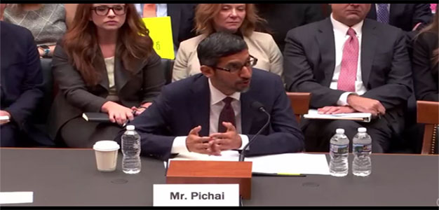 Jim Jordan Questions Google CEO About Specific Example of Overt Political Bias from Executive…