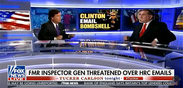 """""""The Public Was MISLED!!"""" Tucker Interviews Fmr Intelligence IG About Hillary Investigation…"""