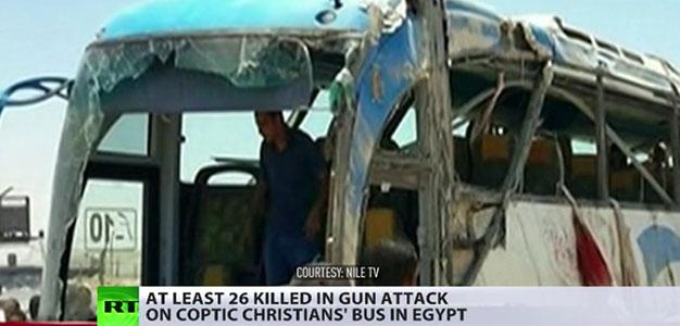Children Among Dozens Killed as Masked Gunmen Ambush Convoy of Egyptian Coptic Christians…
