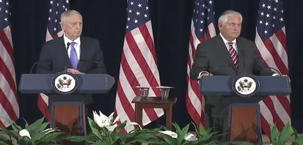 Secretarys' Mattis and Tillerson Provide Briefing on China, Otto Warmbier, North Korea and Next Steps…