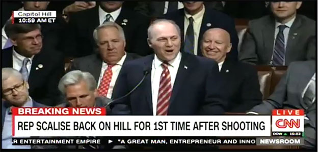 "Congressman Steve Scalise Returns to 'the People's House""…Full Address…"