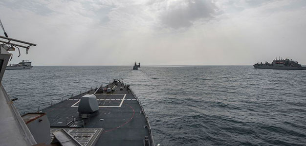 As Tensions with Iran Escalate, U.S. Launches Major War Game Just 50 Miles off the Iranian Coast…