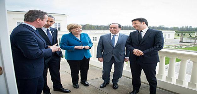 Obama, Cameron, Merkel, Hollande, Renzi